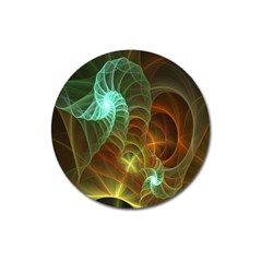 Art Shell Spirals Texture Magnet 3  (round) by Simbadda