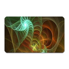 Art Shell Spirals Texture Magnet (rectangular) by Simbadda