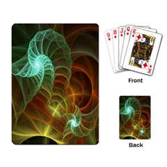 Art Shell Spirals Texture Playing Card by Simbadda