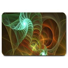 Art Shell Spirals Texture Large Doormat  by Simbadda