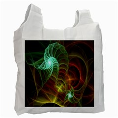 Art Shell Spirals Texture Recycle Bag (two Side)  by Simbadda