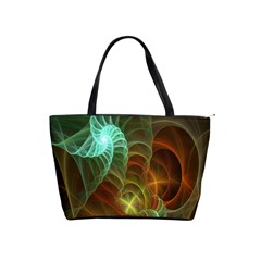 Art Shell Spirals Texture Shoulder Handbags by Simbadda
