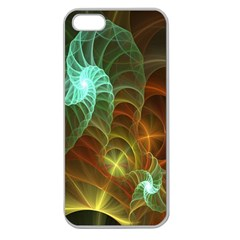 Art Shell Spirals Texture Apple Seamless Iphone 5 Case (clear) by Simbadda