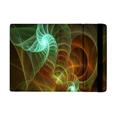 Art Shell Spirals Texture Apple Ipad Mini Flip Case by Simbadda