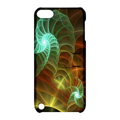 Art Shell Spirals Texture Apple Ipod Touch 5 Hardshell Case With Stand by Simbadda