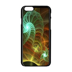 Art Shell Spirals Texture Apple Iphone 6/6s Black Enamel Case by Simbadda