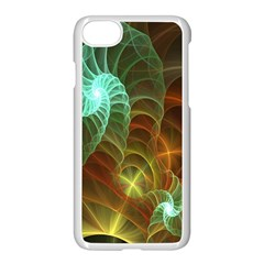 Art Shell Spirals Texture Apple Iphone 7 Seamless Case (white) by Simbadda