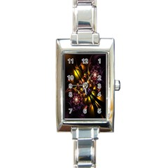 Art Design Image Oily Spirals Texture Rectangle Italian Charm Watch by Simbadda