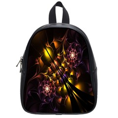 Art Design Image Oily Spirals Texture School Bags (small)  by Simbadda