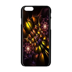 Art Design Image Oily Spirals Texture Apple Iphone 6/6s Black Enamel Case by Simbadda