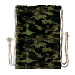Camo Pattern Drawstring Bag (large) by Simbadda