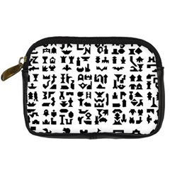 Anchor Puzzle Booklet Pages All Black Digital Camera Cases by Simbadda