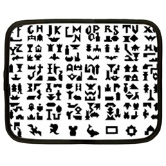 Anchor Puzzle Booklet Pages All Black Netbook Case (xl)  by Simbadda