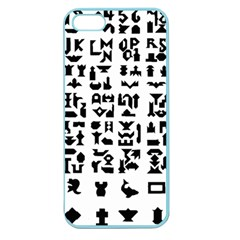 Anchor Puzzle Booklet Pages All Black Apple Seamless Iphone 5 Case (color)