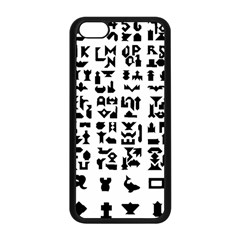 Anchor Puzzle Booklet Pages All Black Apple Iphone 5c Seamless Case (black) by Simbadda