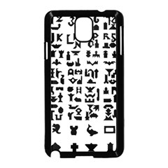 Anchor Puzzle Booklet Pages All Black Samsung Galaxy Note 3 Neo Hardshell Case (black) by Simbadda