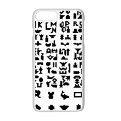 Anchor Puzzle Booklet Pages All Black Apple Iphone 7 Plus White Seamless Case by Simbadda