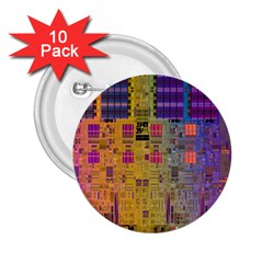 Circuit Board Pattern Lynnfield Die 2 25  Buttons (10 Pack)  by Simbadda