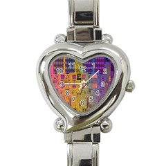 Circuit Board Pattern Lynnfield Die Heart Italian Charm Watch by Simbadda