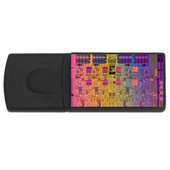 Circuit Board Pattern Lynnfield Die Usb Flash Drive Rectangular (4 Gb) by Simbadda