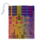 Circuit Board Pattern Lynnfield Die Drawstring Pouches (Extra Large) Back