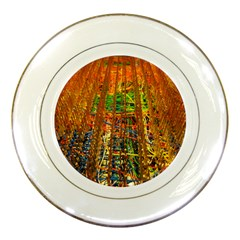 Circuit Board Pattern Porcelain Plates by Simbadda
