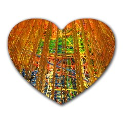 Circuit Board Pattern Heart Mousepads by Simbadda