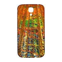 Circuit Board Pattern Samsung Galaxy S4 I9500/i9505  Hardshell Back Case by Simbadda