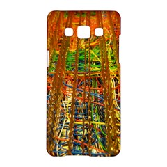 Circuit Board Pattern Samsung Galaxy A5 Hardshell Case  by Simbadda