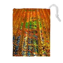 Circuit Board Pattern Drawstring Pouches (extra Large) by Simbadda