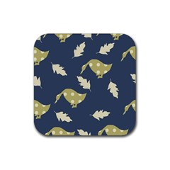 Duck Tech Repeat Rubber Coaster (square)