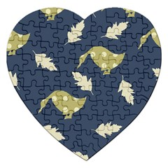 Duck Tech Repeat Jigsaw Puzzle (heart) by Simbadda