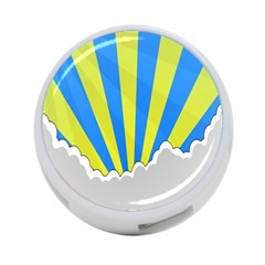 Sunlight Clouds Blue Sky Yellow White 4 Port Usb Hub (one Side)