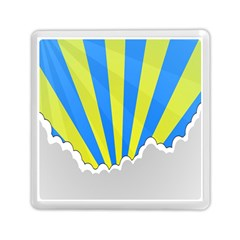 Sunlight Clouds Blue Sky Yellow White Memory Card Reader (square)