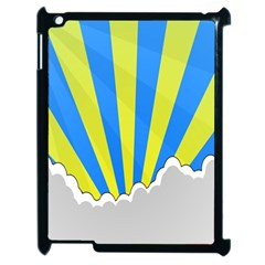 Sunlight Clouds Blue Sky Yellow White Apple Ipad 2 Case (black)