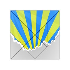 Sunlight Clouds Blue Sky Yellow White Acrylic Tangram Puzzle (4  X 4 )