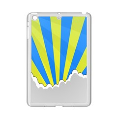 Sunlight Clouds Blue Sky Yellow White Ipad Mini 2 Enamel Coated Cases