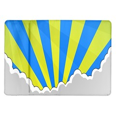 Sunlight Clouds Blue Sky Yellow White Samsung Galaxy Tab 10 1  P7500 Flip Case