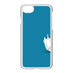 Swan Animals Swim Blue Water Apple Iphone 7 Seamless Case (white)