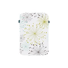 Retro Floral Flower Seamless Gold Blue Brown Apple Ipad Mini Protective Soft Cases by Alisyart