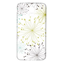 Retro Floral Flower Seamless Gold Blue Brown Samsung Galaxy S5 Back Case (white)