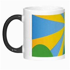 Sunlight Clouds Blue Yellow Green Orange White Sky Morph Mugs by Alisyart