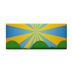Sunlight Clouds Blue Yellow Green Orange White Sky Cosmetic Storage Cases by Alisyart