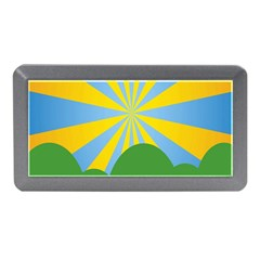 Sunlight Clouds Blue Yellow Green Orange White Sky Memory Card Reader (mini) by Alisyart