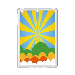 Sunlight Clouds Blue Yellow Green Orange White Sky Ipad Mini 2 Enamel Coated Cases