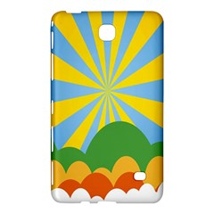Sunlight Clouds Blue Yellow Green Orange White Sky Samsung Galaxy Tab 4 (8 ) Hardshell Case  by Alisyart