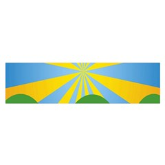Sunlight Clouds Blue Yellow Green Orange White Sky Satin Scarf (oblong)