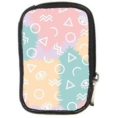 Triangle Circle Wave Eye Rainbow Orange Pink Blue Sign Compact Camera Cases by Alisyart