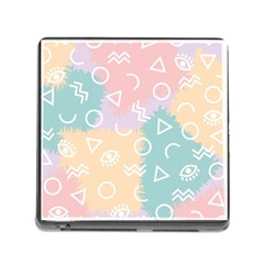 Triangle Circle Wave Eye Rainbow Orange Pink Blue Sign Memory Card Reader (square)