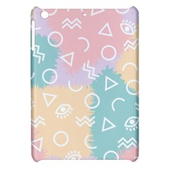 Triangle Circle Wave Eye Rainbow Orange Pink Blue Sign Apple Ipad Mini Hardshell Case
